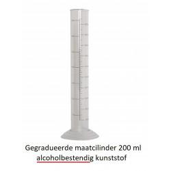 Gegradueerde maatcilinder 200 ml - alcoholbestendig kunststof