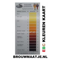 Officiële Bier EBC kleurkaart