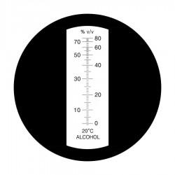 Refractometer 0-80 vol.-% met ATC