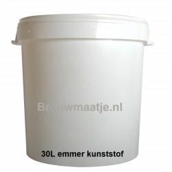 Emmer wit 30L met deksel