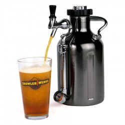 GrowlerWerks uKeg™ 64 zwart chroom - 1,9 l