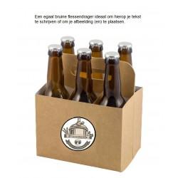 6 pack flessendrager neutraal bruin