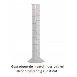 Gegradueerde maatcilinder 240 ml - alcoholbestendig kunststof