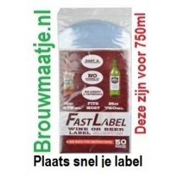 Label sleeves FastLabel beer & wine - 750 ml - 50 st.