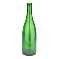 Wijnfles champagne 75 cl, 775 g, groen, 29 mm, per stuk