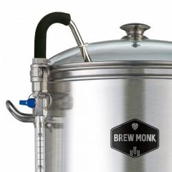 Brew Monk™ transparante circulatiepijp met litergradering en rvs kraan