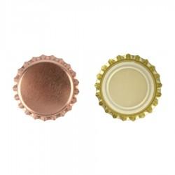 Kroonkurk 26mm Rose goud 100st