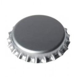 Kroonkurk zilver 26mm ca....