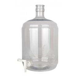 """Gistingsfles pet 12 liter met kraan 5/16""""-7/16"""""""