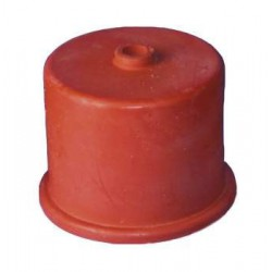 gistkap rubber nr 6, 65 mm, met 9mm gat
