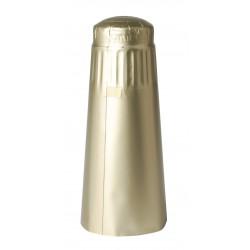 Aluminium capsules champagne flessen goud kleurig 100 st