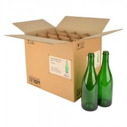 Wijnfles champagne 75 cl, 775 g, groen, 29 mm, doos 12 st.
